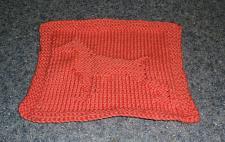 Buy Brand New Hand Knit Doberman Pinscher Dog Orange Dish Cloth 4 Dog Rescue Charity