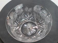 Buy ABP cut glass bowl Pairpoint BUTTERFLY daisey ANTIQUE