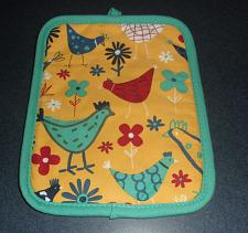 Buy Brand New Chicken Themed Pot Holder Aqua Blue For Cocker Spaniel Rescue Charity