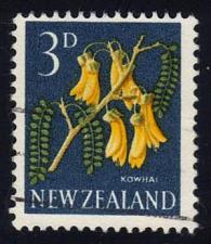 Buy New Zealand #337 Kowhai Flower; Used (2Stars)  NWZ0337-01