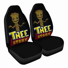 Buy Tree Story Car Seat Covers Nerdy Geeky Pop Culture Set of 2 Front Seat