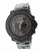 Buy Don & Co 5.00CT 3 rows Large Diamonds 50mm Stainless steel Watch black case