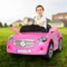 Buy Kids Ride On Car 12V Electric Wheels Remote Control Pink