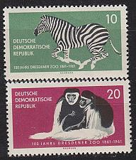 Buy GERMANY DDR [1961] MiNr 0825-26 ( **/mnh ) Tiere