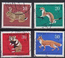 Buy GERMANY BUND [1967] MiNr 0529-32 ( O/used ) Tiere