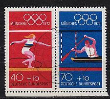 Buy GERMANY BUND [1972] MiNr 0734 WZd34 ( O/used ) Olympiade