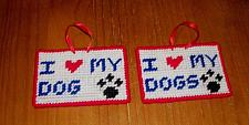 Buy Brand New Handmade Needlepoint Sign I Love My DOG DOGS For Dog Rescue Charity
