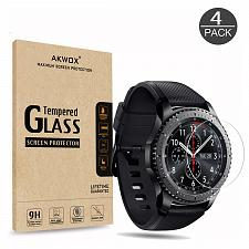 Buy 4-Pack Gear S3 Tempered Glass Screen Protector, Akwox [0.3mm 2.5D High 9H] Clear