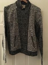 Buy Lucky Brand Jacket Black Zippered Women`s XL 71% Polyester Retail $119.00 NWT`s
