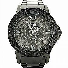 Buy Super Techno 0.10CT diamonds Watch Black M-6052