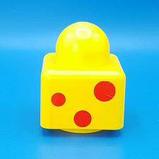 Buy Lego Duplo Primo Yellow 1x1 3 Red Spots Pattern Brick Rabbit Logo Baby Chunky