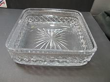Buy Hand Cut Glass square bowl