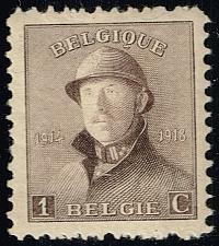 Buy Belgium #124 King Albert I in Helmet; Unused (4Stars)  BEL0124-06XRS