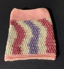 Buy Brand New Hand Crocheted Pink Purple Snood Neck Warmer For Dog Rescue Charity