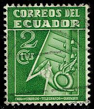 Buy Ecuador #RA29 Post and Telegraph Service Symbol; Used (4Stars)  ECURA29-07XBC