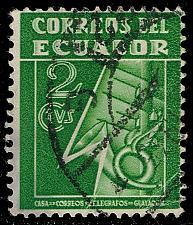 Buy Ecuador #RA29 Post and Telegraph Service Symbol; Used (3Stars)  ECURA29-10XBC