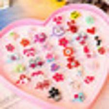 Buy 10PCS Cute Jewelry Plastic Kids Rings for Girls Mixed Resin Crystal Mixed Colorf