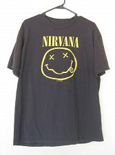 Buy Nirvana Black T-shirt Rock Heavy Metal Band Punk Skateboard Kurt Cobain XL