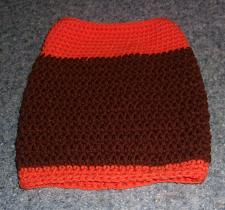 Buy Brand New Hand Crocheted Brown Orange Dog Snood Neck Warmer 4 Dog Rescue Charity