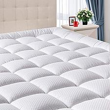 """Buy DOMICARE Queen Mattress Pad Cover with Deep Pocket 8""""-21"""" - Cooling Pillowtop -"""