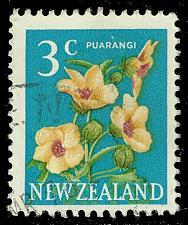 Buy New Zealand #386 Hibiscus Flower; Used (2Stars) |NWZ0386-03