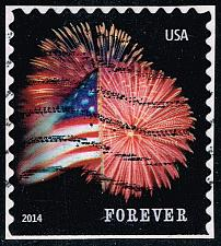 Buy US #4869 Fort McHenry Flag and Fireworks; Used (3Stars) |USA4869-11