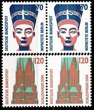 Buy GERMANY BUND [1988] MiNr 1374-75 2er ( **/mnh ) Bauwerke aus Bogen