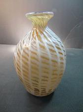 Buy Signed hand blown art glass vase Maihle '85