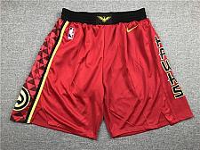 Buy Men's Atlanta Hawks Red Statement Shorts