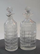 Buy Pair Cut Glass oval cruets Antique