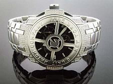 Buy 50 Cent G-unit Gs8 -44mm 1.45ct Diamond Watch Black face stainless steel band