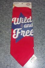 Buy Brand New Patriotic Wild and Free Design Dog Bandanas For Dog Rescue Charity