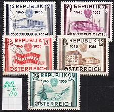 Buy ÖSTERREICH AUSTRIA [1955] MiNr 1012-16 ( O/used )