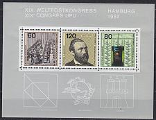 Buy GERMANY BUND [1984] MiNr 1215-17 Block 19 ( **/mnh ) Post
