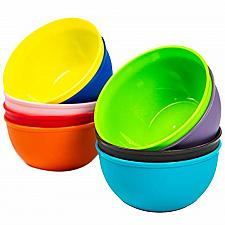 Buy Youngever 10 Ounce Plastic Bowls, Kids Plastic Bowls, Set of 9 in 9 Assorted Non