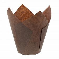 Buy Royal Brown Tulip Style Baking Cups, Large, Sleeve of 200