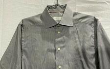 Buy ETON Men's Contemporary Gray White Striped Spread Collar Dress Shirt Sz 38/15