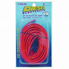 Buy DIESEL 36095 25 FOOT, 18 GUAGE RED/BLACK POWER WIRE