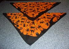 Buy Two Brand New Halloween Black Cat Design Dog Bandanas For Dog Rescue Charity
