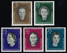 Buy Germany DDR #B49-B53 Woman War Victims Complete Set; MNH (4Stars) |DDRB0053set-02