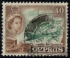Buy Cyprus #177 Famagusta Harbor; Used (2Stars) |CYP0177-01XRS