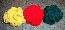 Buy Three New Colorful Handmade Crochet Brain Ball Cat Toys For Dog Rescue Charity