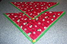 Buy Two Brand New Winter Holiday Snowman Design Dog Bandanas For Dog Rescue Charity