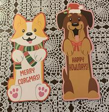 Buy Brand New Holiday Dog Bookmarks Corgi Cute Brown Dog For Dog Rescue Charity