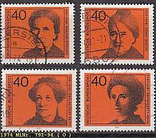 Buy GERMANY BUND [1974] MiNr 0791-94 ( O/used )