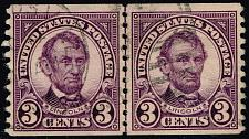 Buy US #600 Abraham Lincoln Joint Line Pair; Used (1Stars)  USA0600jlp-01XDP