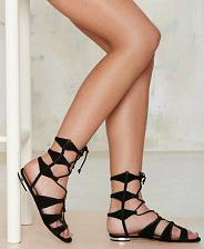 Buy Schutz Erlina Black Suede Gladiator Sandal Leather sole size 7.5B