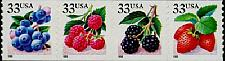 Buy 1999 33c Fruit Berries, Strip of 4 Scott 3302-3305 Mint F/VF NH