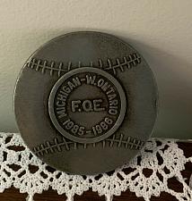 Buy 1986 Michigan West Ontario FOE Fraternal Order of Eagles Pewter Belt Buckle
