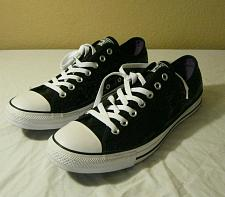 Buy Converse Chuck Taylor All Star Black Sequin UNISEX Sneakers Mens size 11